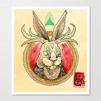 jackalope Canvas Prints featuring Jackalope by Tristan Lloyd Lewellyn