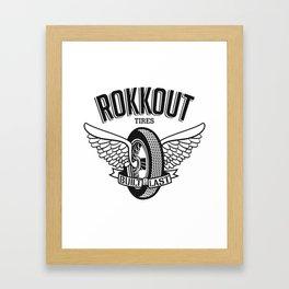 Flying Wheel Framed Art Print