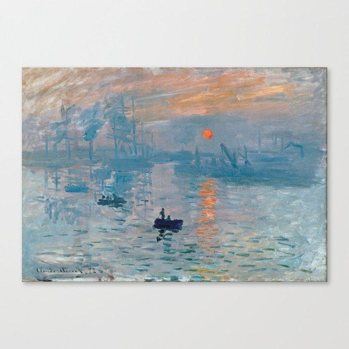 Claude Monet - Impression Sunrise Leinwanddruck