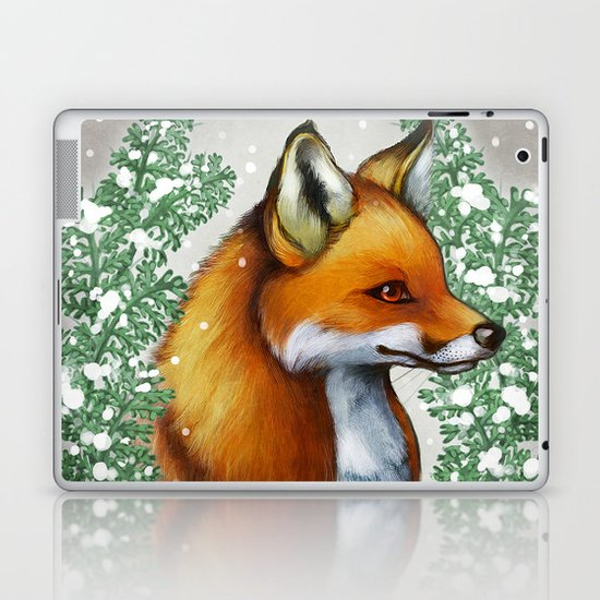 Snowy Fox Laptop & iPad Skin