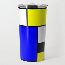 Colored Squares Art Travel Mug