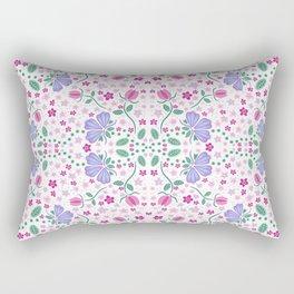 Purple Floral Rectangular Pillow