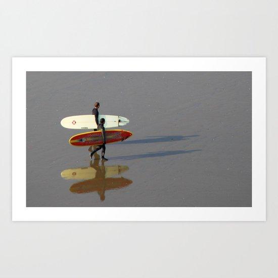 Surfers.   Art Print