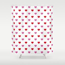 wild_at_heart Pink Shower Curtain