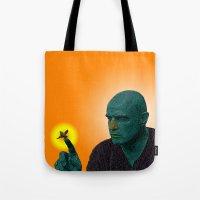 apocalypse now Tote Bags featuring Apocalypse Now Marlon Brando by CultureCloth