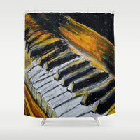 piano Shower Curtains featuring Piano by Renny Hendra