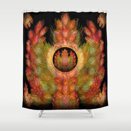 """Golden spring equinox"" Shower Curtain"