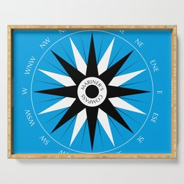 Mariner's Compass Serving Tray