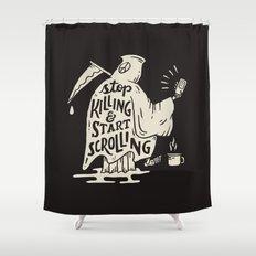 Start Scrolling Shower Curtain