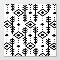 nordic Canvas Prints featuring NORDIC by Nika