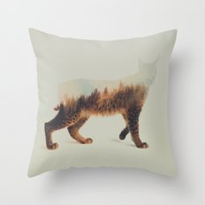 Norwegian Woods: The Lynx Throw Pillow
