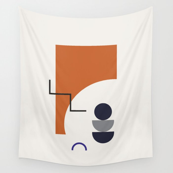 Abstract Shapes - Autumn Wall Tapestry