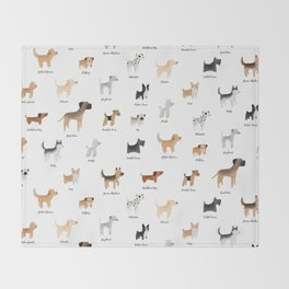 Lots of Cute Doggos - With Names Throw Blanket