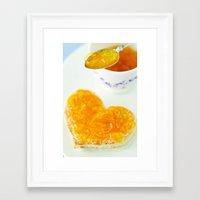breakfast Framed Art Prints featuring BREAKFAST by Ylenia Pizzetti