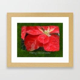 Mottled Red Poinsettia 1 Ephemeral Merry Christmas P1F5 Framed Art Print