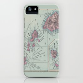 Map of Hawaii iPhone Case