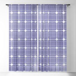 In charge / 3D render of solar panel texture Sheer Curtain