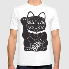lucky cat White SMALL Mens Fitted Tee