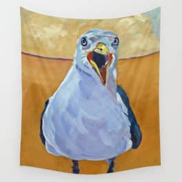 Crying Seagull Wall Tapestry