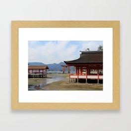 Utsukushima Shrine Framed Art Print