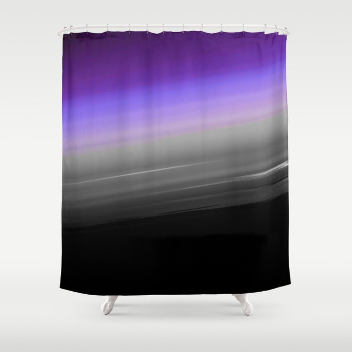 Purple Gray Black Smooth Ombre Shower Curtain By Vintageappeal623