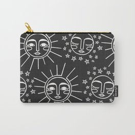 Sun and Moon Pattern Carry-All Pouch