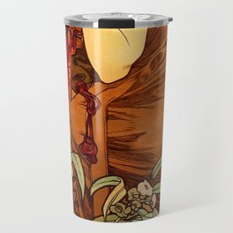 "Alphonse Mucha ""The Precious Stones Series: Emerald"" Travel Mug"
