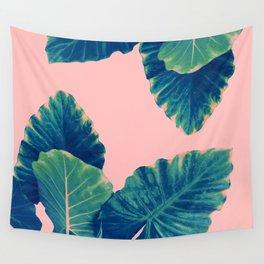Greenery on Blush Wall Tapestry