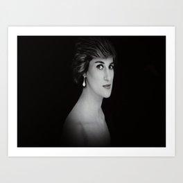 London Princess Diana Art Print