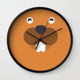 Sandy Squirrel Wall Clock