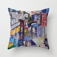 broadway Throw Pillows featuring Broadway by gretchenweidner.com