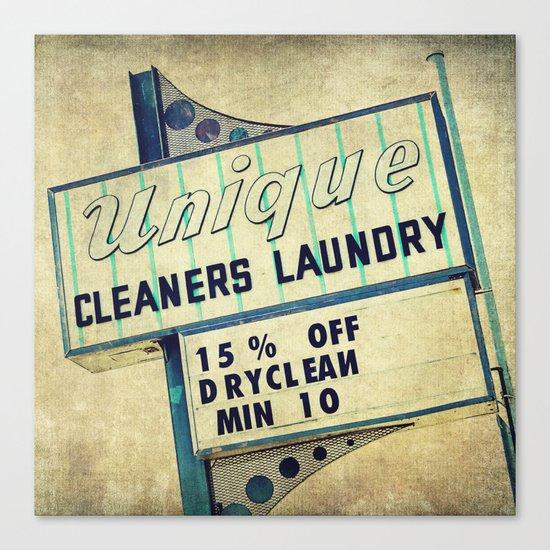 Unique Laundry Sign Canvas Print