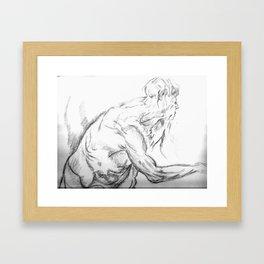 aman standing Framed Art Print