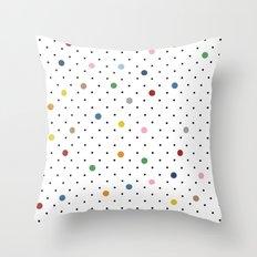 Pin Points Polka Dot Throw Pillow