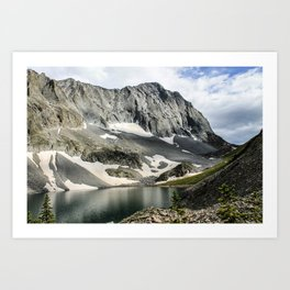 Crestone Peak - Upper South Colony Lake Art Print