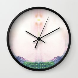 Montain lake Wall Clock