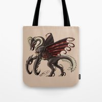 demon Tote Bags featuring Demon by Alexiel