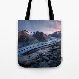 Sunrise On A Mountain Ridge Tote Bag