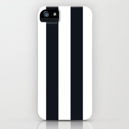 Vertical Stripes Black & White iPhone Case