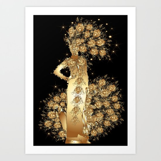 Carnival Woman Art Print