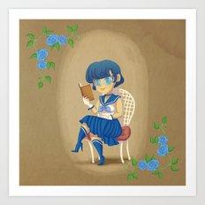 Retro Sailor Mercury Art Print