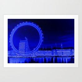 London Eye and The Southbank Art Print