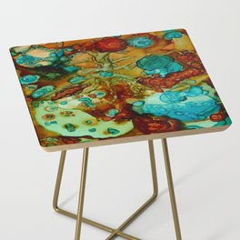 flora beginnings Abstract Side Table
