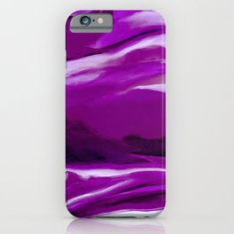 Purple Abstract Painting iPhone Case