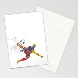 Soccer player in watercolor 12 Stationery Cards