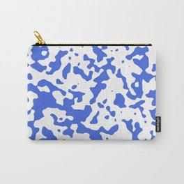 Spots - White and Royal Blue Carry-All Pouch