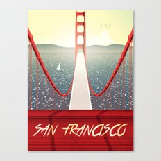 Golden gate San francisco bridge poster Canvas Print