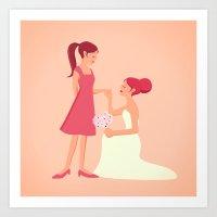 Be My Bridesmaid Art Print