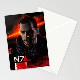 Renegade Commander John Shepard Stationery Cards
