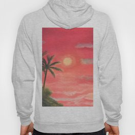 Palm trees swaying in the wind Hoody
